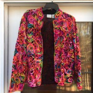 ‼️FINAL PRICE‼️CHICO'S Colorful Ribbon Silk Jacket